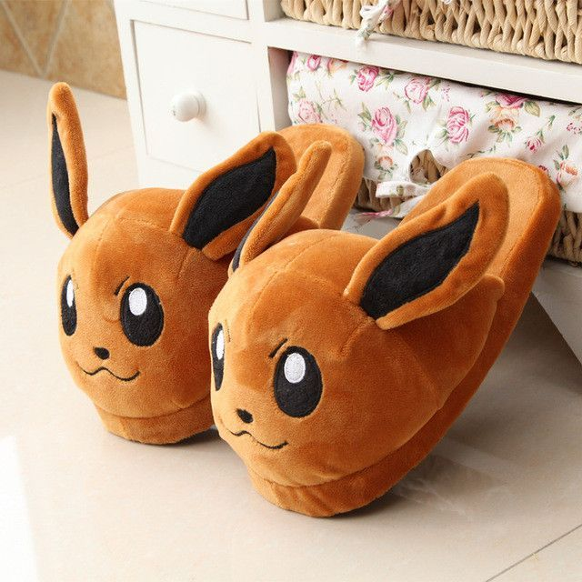 Pokemon Umbreon Soft Plush Slippers Home Winter Warm Shoes Unisex Cosplay Adult