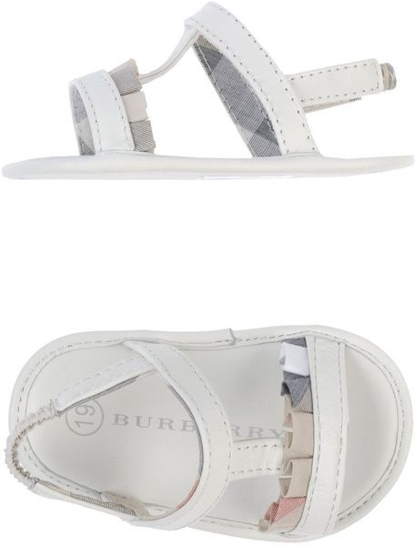 Burberry White Sandals Burberry Baby Girl