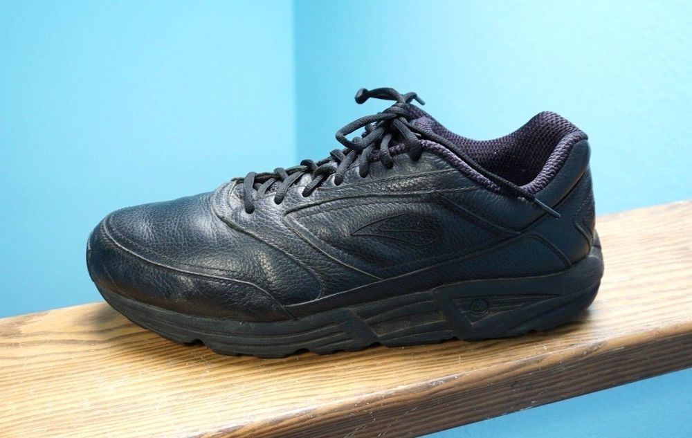 a31ae74f1f1 Men s Brooks Addiction Walker Black Leather Walking Shoes Sz 14 2E Wide  Nice!  Brooks  Walking