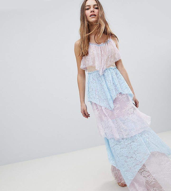 176d58a19ec True Decadence Petite Allover Premium Lace Tiered Maxi Dress  petite   fashion  style