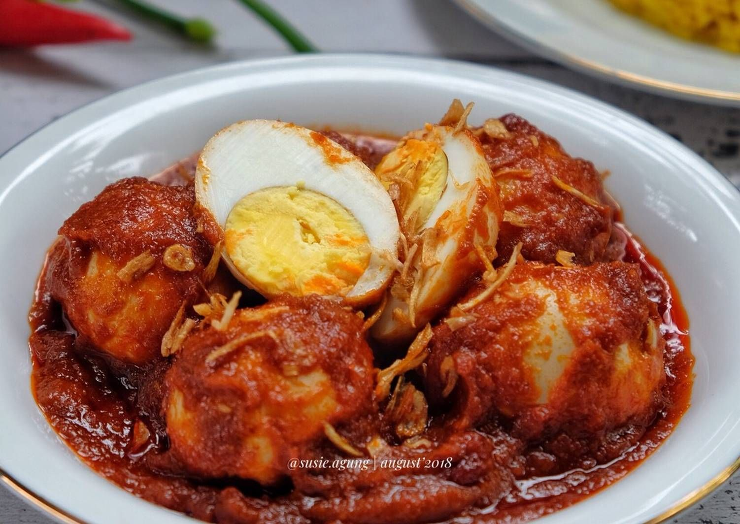 Resep Telur Bumbu Merah Hintalu Masak Habang Oleh Susi Agung Resep Resep Telur Bumbu Ide Makanan