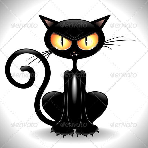 Angry Black Cat Cartoon Black Cat Art Crazy Cats Cartoon Cat