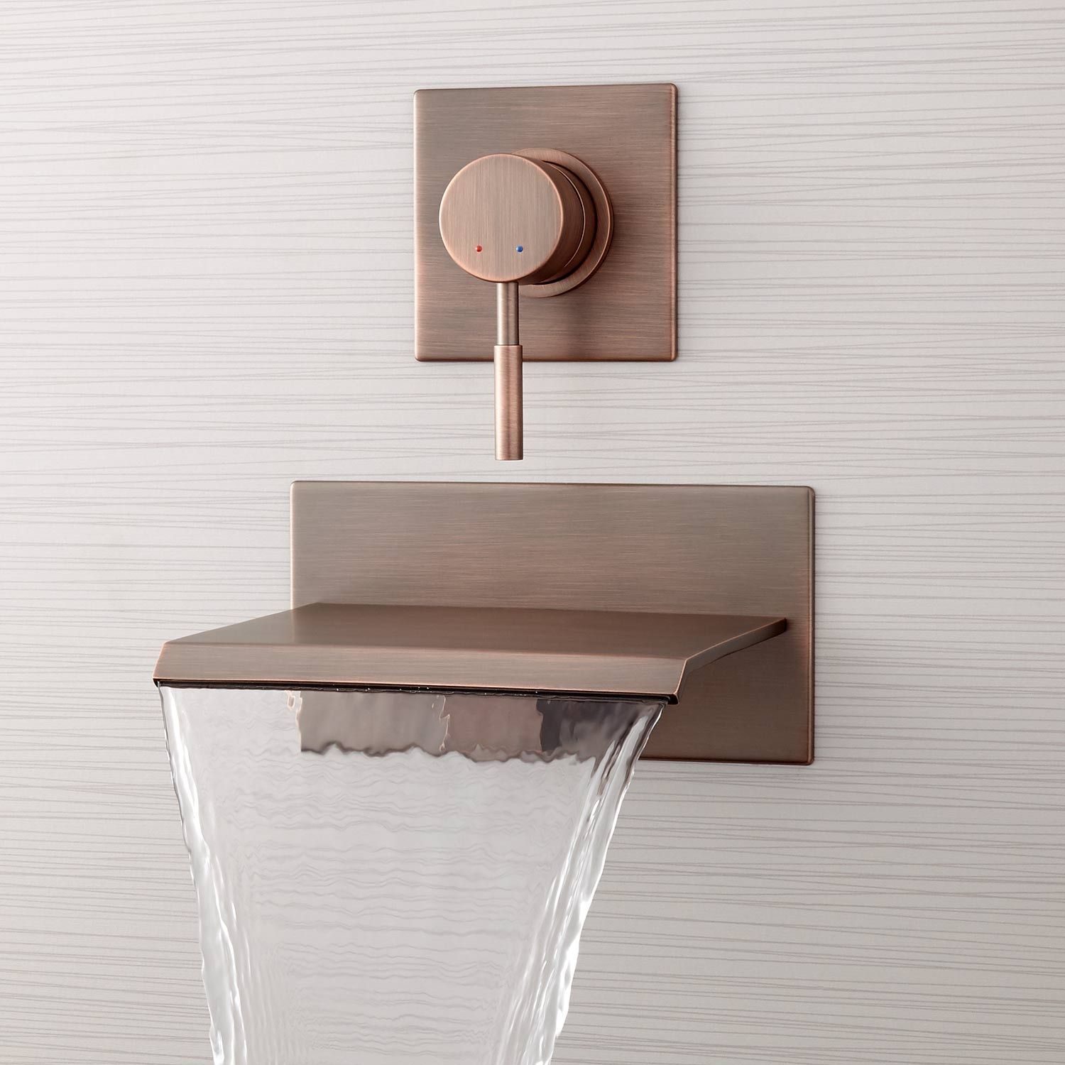 Reston Wall-Mount Waterfall Tub Faucet | Waterfall faucet, Faucet ...