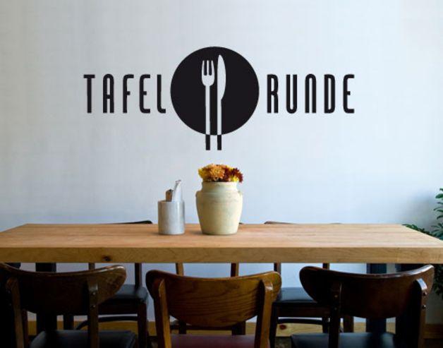 Perfect Wandtattoo Küche Esszimmer Tafelrunde (wal154)