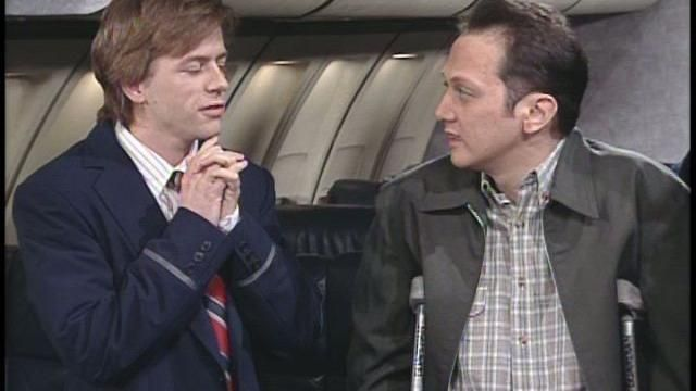 Buh-Bye SNL Total Bastard Airlines  David Spade and Helen Hunt