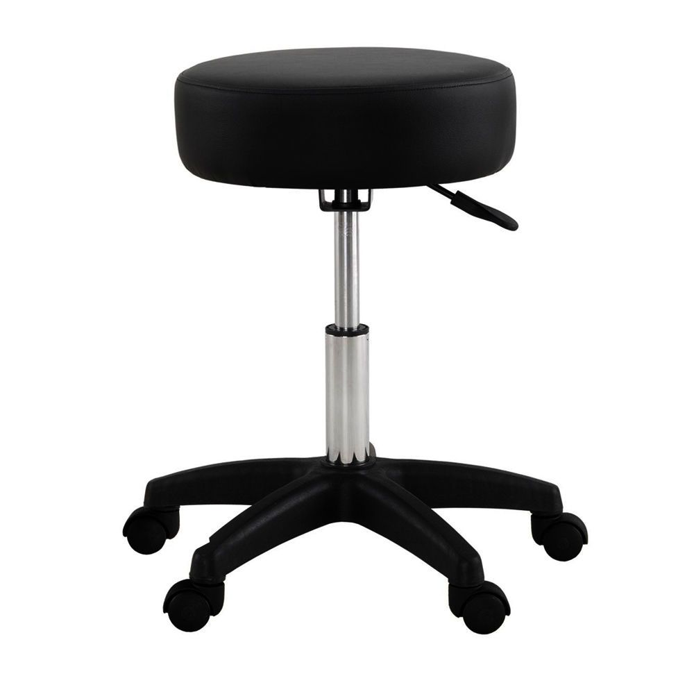 White Rolling Chair Black Adjustable Tattoo Salon Stool Hydraulic Rolling Chair Facial