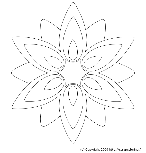 coloriage fleur facile colorier dessin imprimer