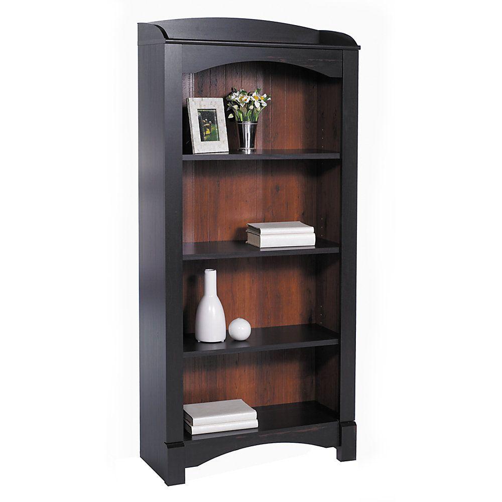 Realspace 174 Shore Mini Solutions 4 Shelf Bookcase 63 1 4 Quot H X 29 1 2 Quot W X 12 5 8 Quot D Antique Black