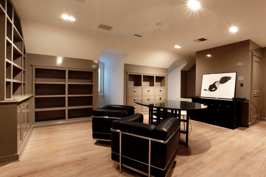 Attic or basement den / media room builtins House, Game