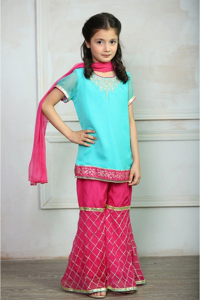 fd5fd16166 Maria B Fancy Kids Dresses Designs 2018-19 Collection for Girls includes  styles of capes, tops, kurti, kurtas, palazzo, shirts tops, long shirts,  frocks,
