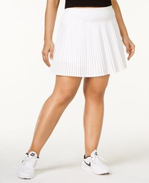 Ideology Plus Size Pleated Rapidry Skort, Only at Macy's - White 2X