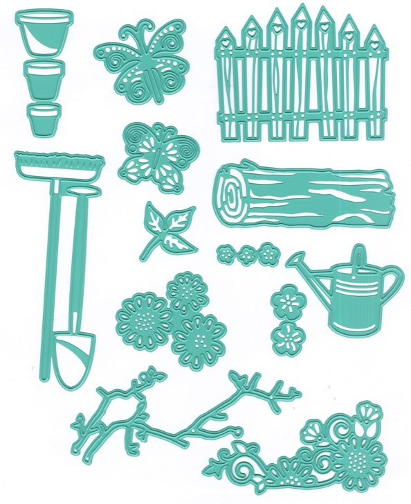 Joy Crafts - Cutting & Embossing Die - One of a Kind Spring Garden Set