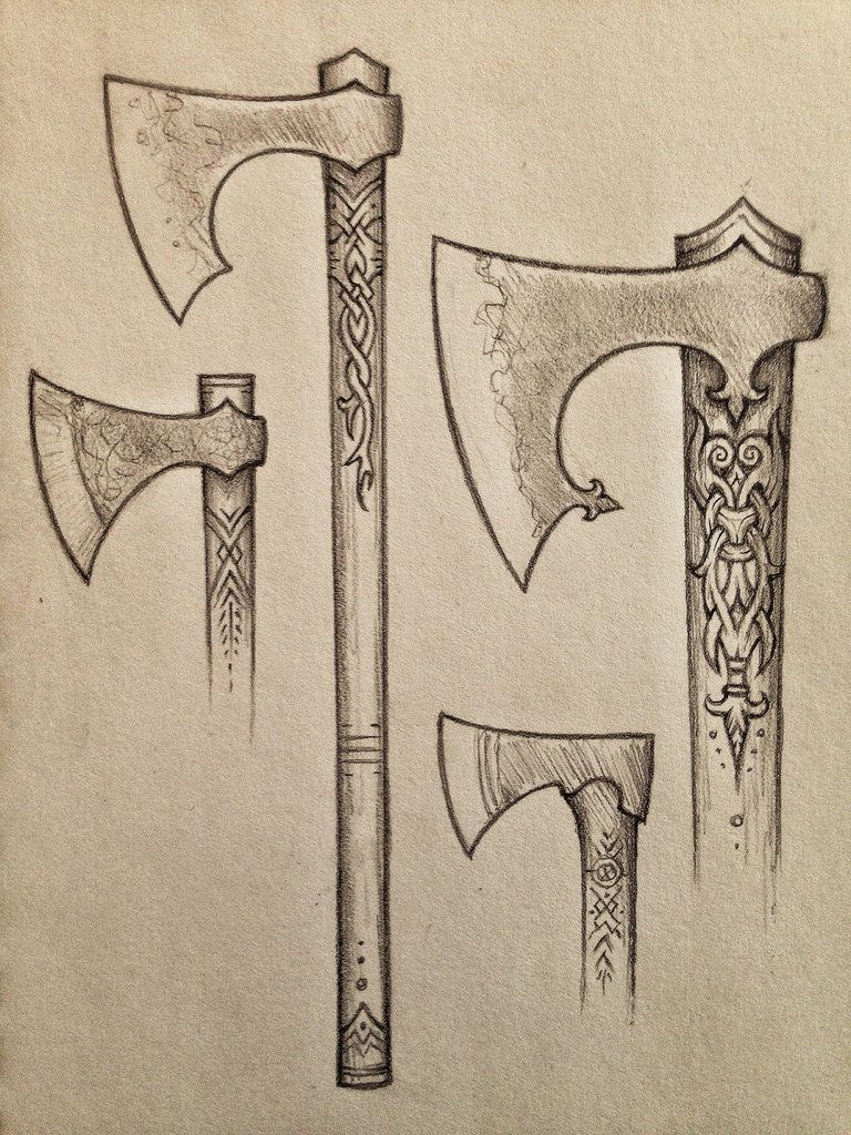 Untitled Viking Axe Viking Tattoos Viking Sword