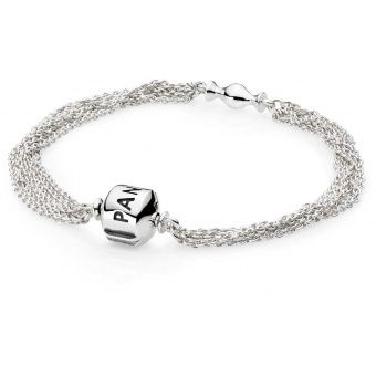 Bracelet Argent multi-chaine Pandora - 591701 sur Bijourama ...