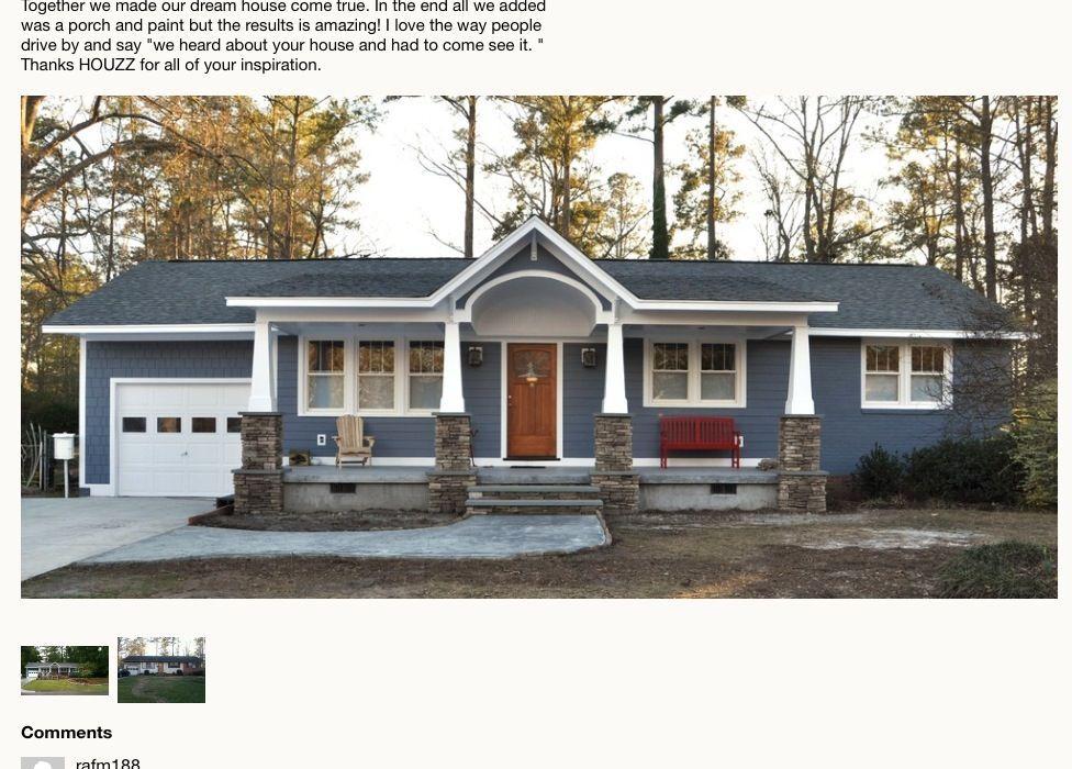 Rambler Exterior Remodel Adding A Porch Ranch House Exterior Cottage House Exterior House Exterior