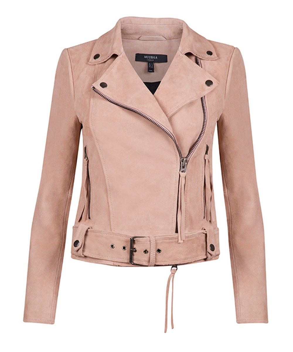 Leather jacket with roses - Look At This Muubaa Rose Dawn Suede Moto Jacket On Zulily Today