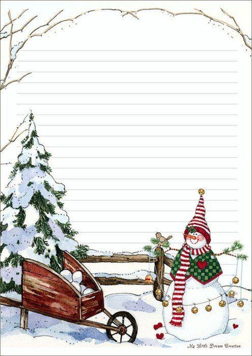 Новогодние открытки лист а4