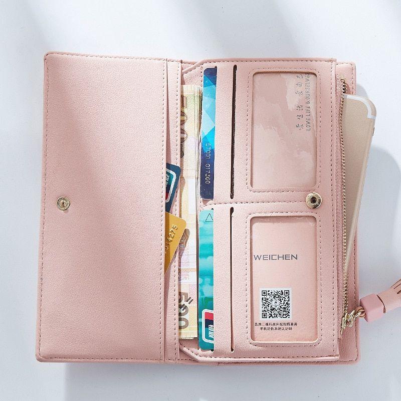 ef139bc2b4 Big Capacity Women Wallets Ladies Clutch Female Fashion Leather Bags ID Card  Holders Cell Phone Cash Wallet Ladies purses bolsas - TakoFashion - Women s  ...