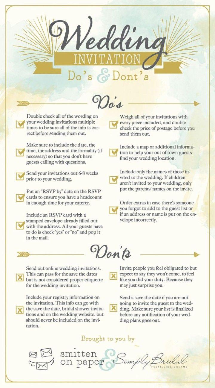 6 super helpful wedding invitation checklists