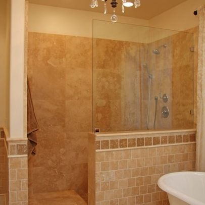 showers without doors design ideas, pictures, remodel, and