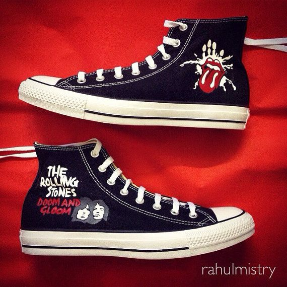 Custom Rolling Stones Converse Chuck Taylors made by MAG