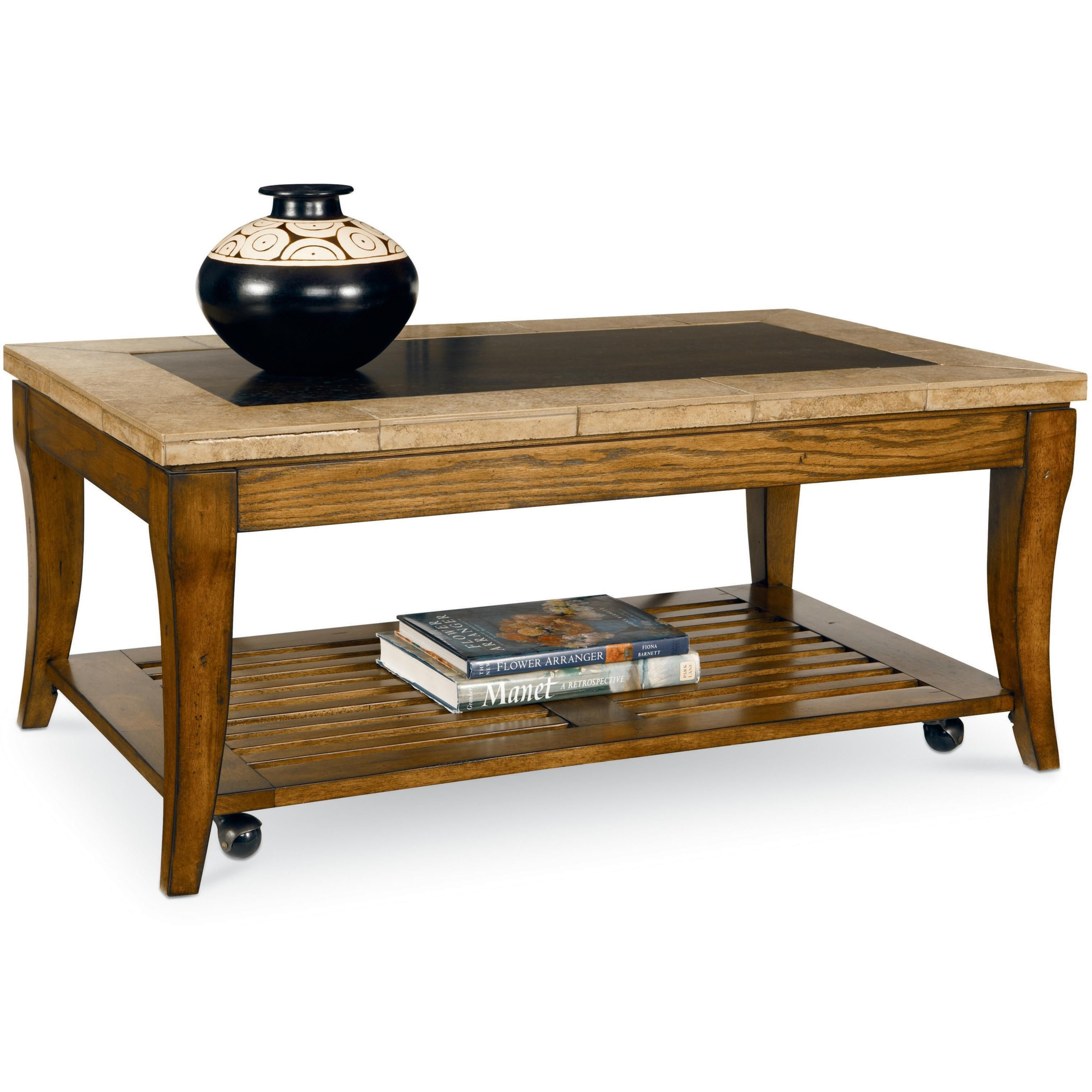 Rockford Rectangular Cocktail Table With Casters And Shelf By Broyhill Furniture At Becker Furniture World Broyhill Furniture Coffee Table Table [ 3040 x 3040 Pixel ]