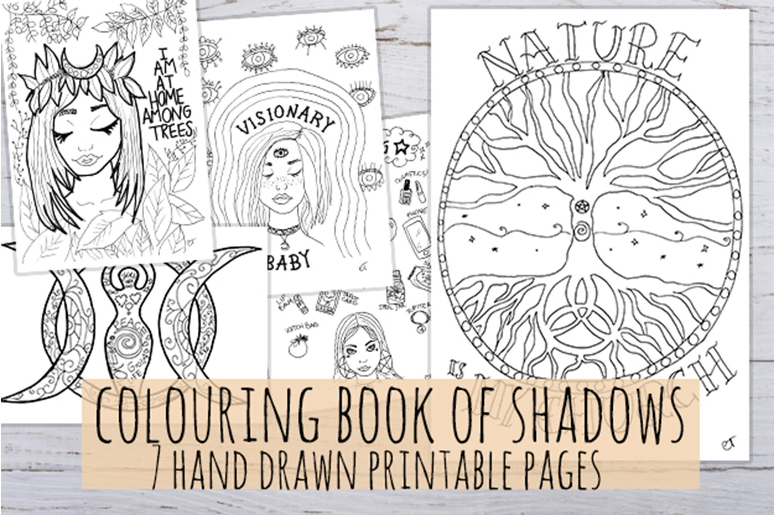 Coloring Book Of Shadows Printable Etsy In 2021 Book Of Shadows Coloring Books Printable Coloring Book