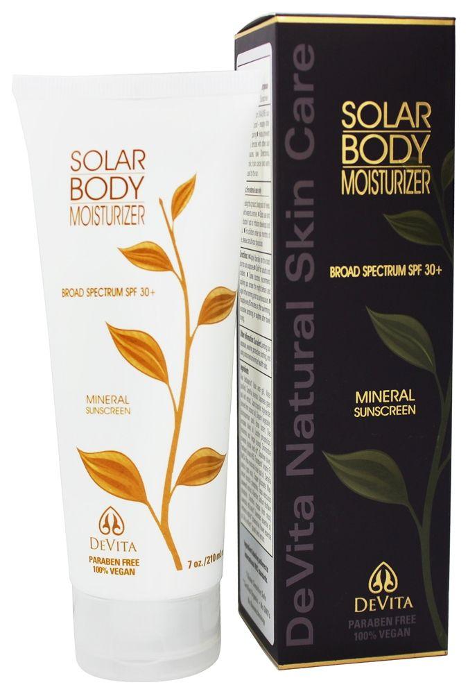 Devita Natural Skin Care Solar Body Moisturizer Natural Skin Care Body Moisturizer Skin Care