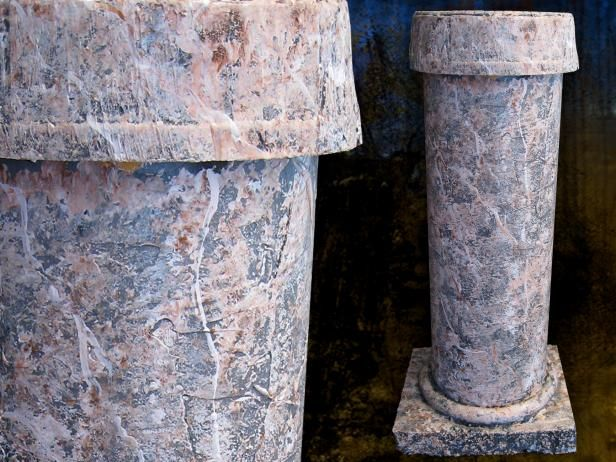 How to Make Faux-Stone Columns for Halloween or Any Occasion