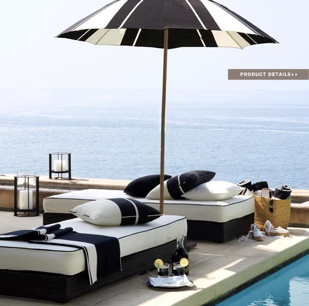 Ralph Lauren Home Black Sands Collection Nautical Black and White ...