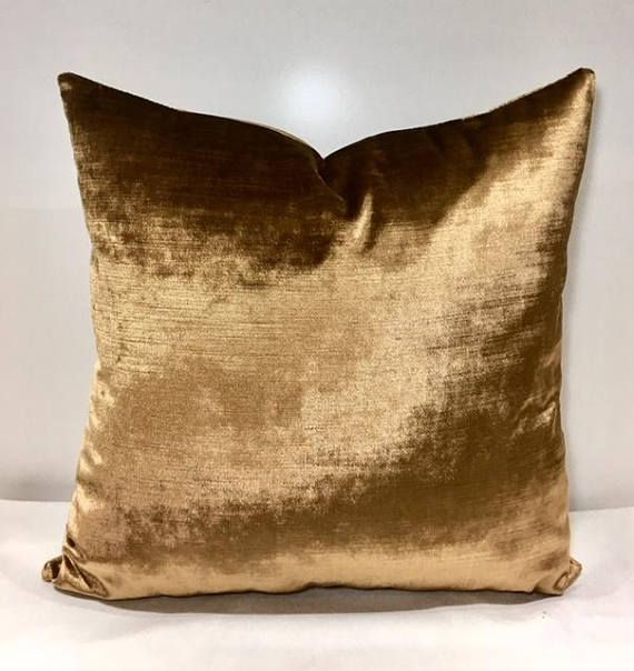 Light Bronze Velvet Throw Pillows Velvet Pillow Cover Luxury Best Bronze Decorative Pillows