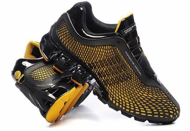 more photos 963b5 2b8b0 Adidas Porsche Design Sport Bounce Running Trainers Black Yellow
