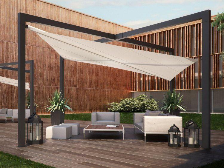 voile d 39 ombrage mistral par practic pour terrasse moderne design lampes suspendues et d co. Black Bedroom Furniture Sets. Home Design Ideas