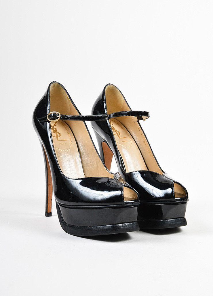 c00f798a4d85 Yves Saint Laurent Black Patent Leather Mary Jane