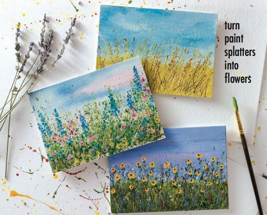 Let Your Paint Splatters Bloom Into Flower Gardens A Step by