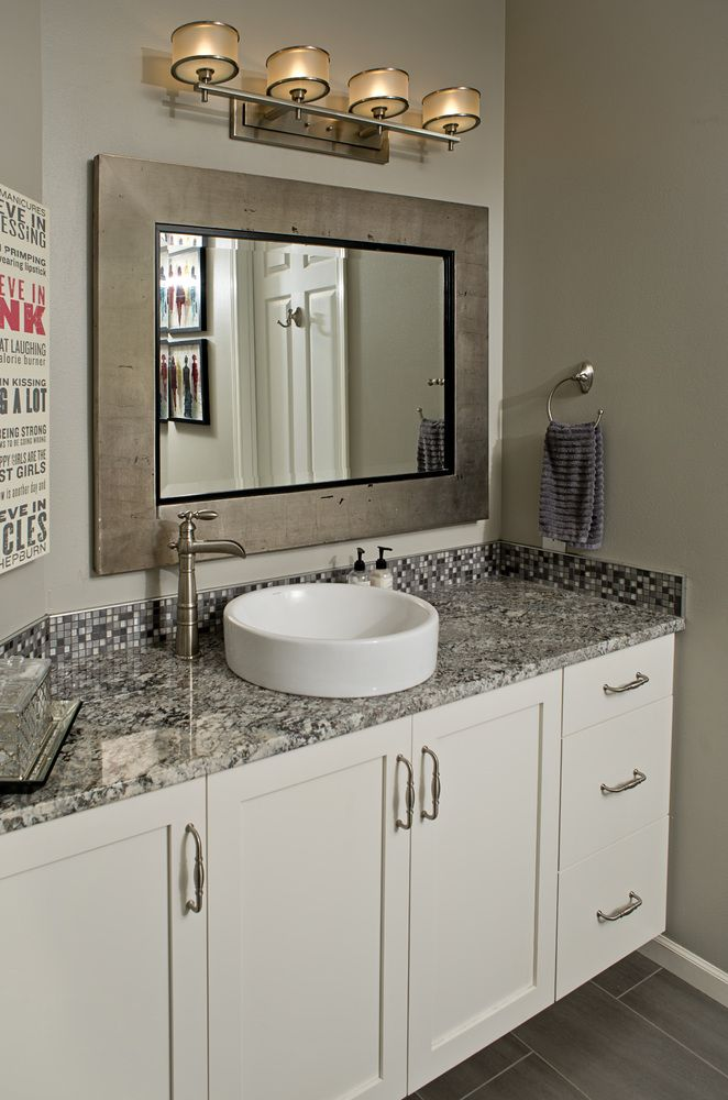 vanity; vessel sink; frameless New House Pinterest Vessel sink - Vessel Sinks Bathroom