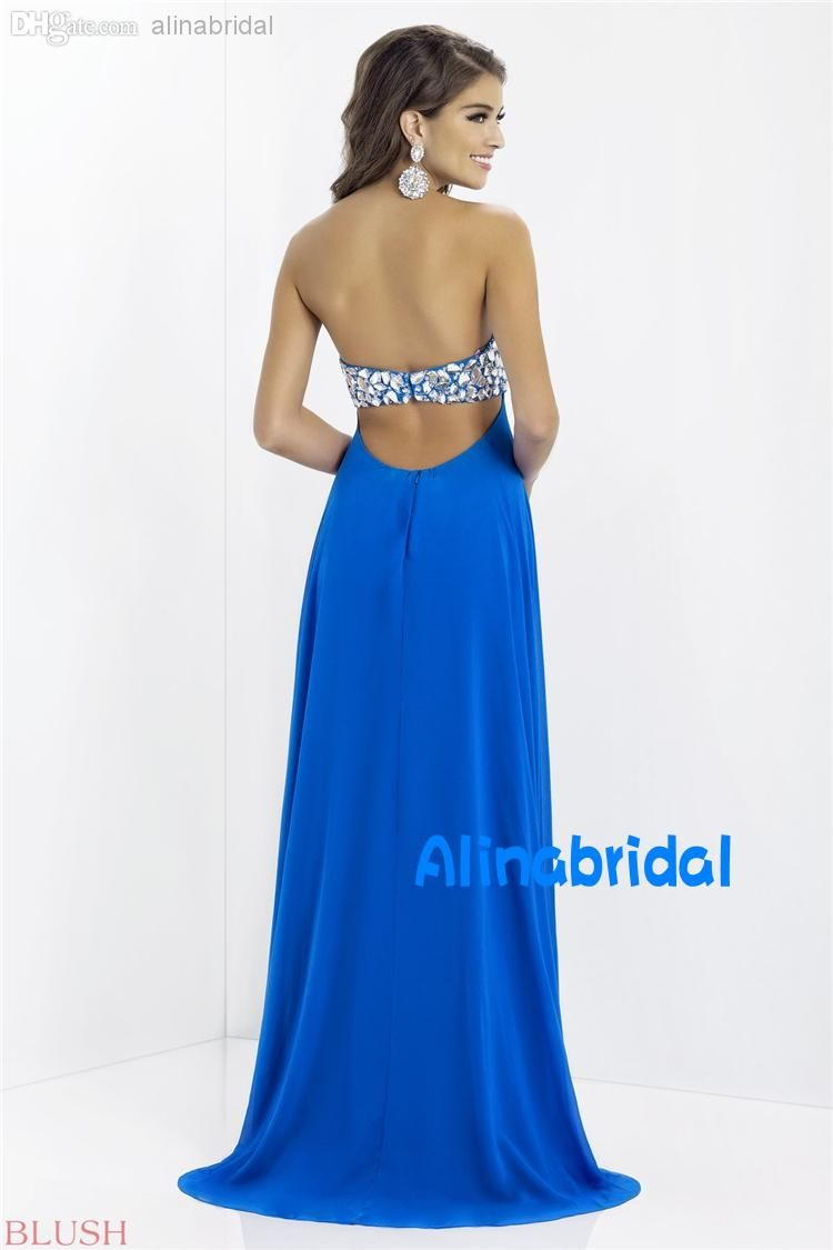 Cheap blush prom dresses black blue sweetheart a line sweep