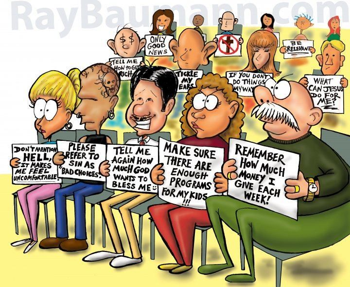 This is whats wrong with people today in church, we are not willing
