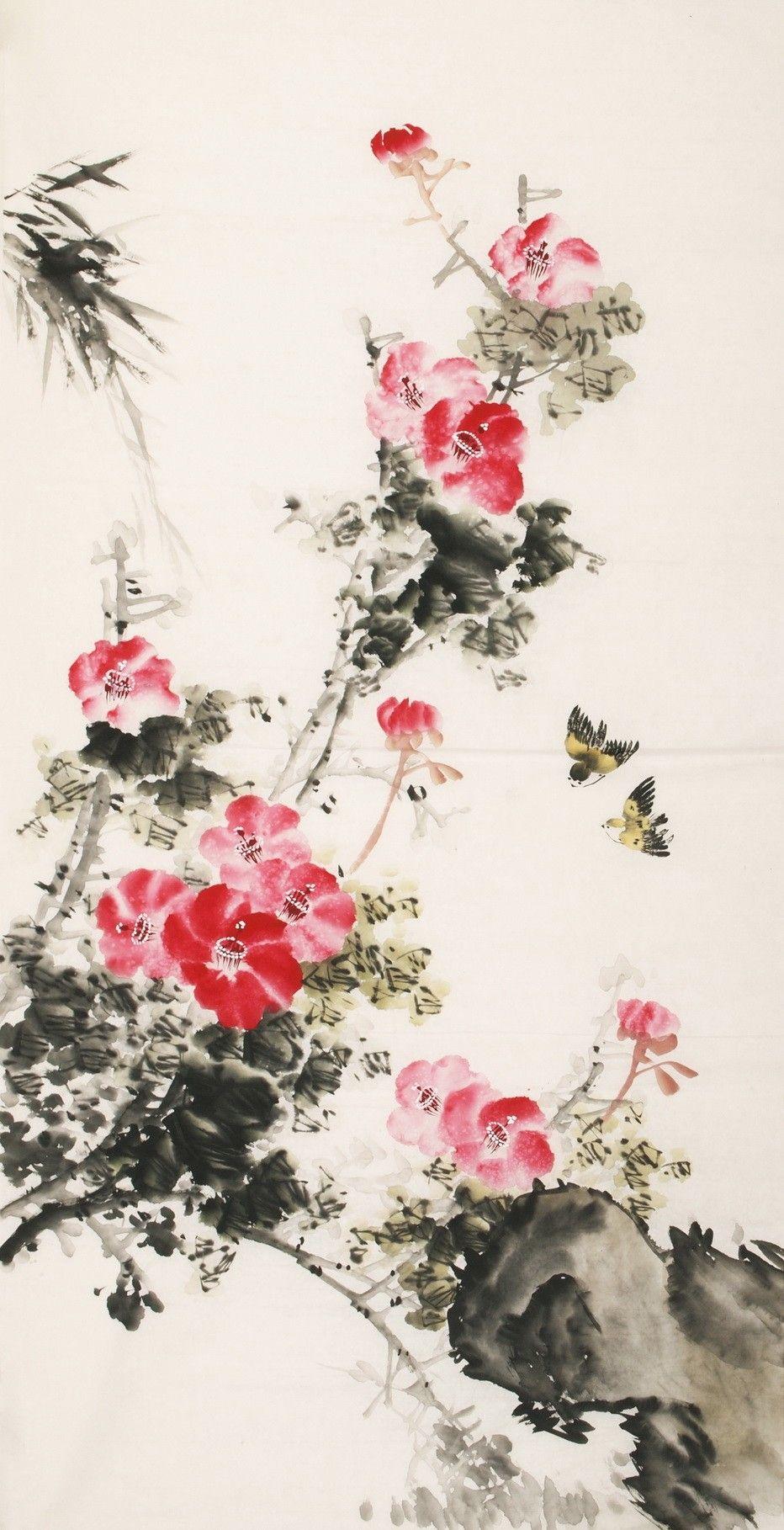 Hibiscus Cnag000439 Asian Art Flower Painting
