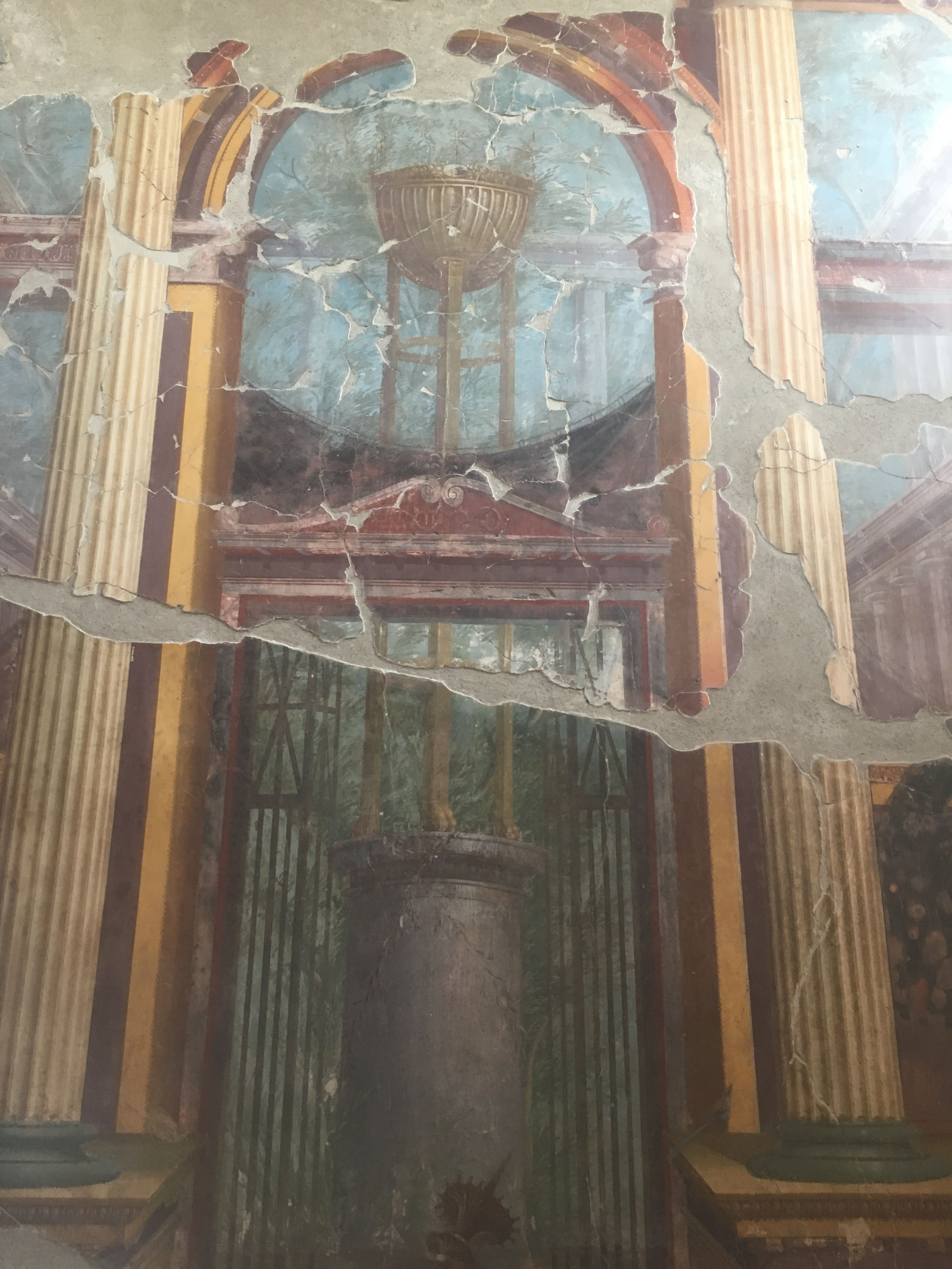 Ancient frescos of the Villa Oplontis that belonged to