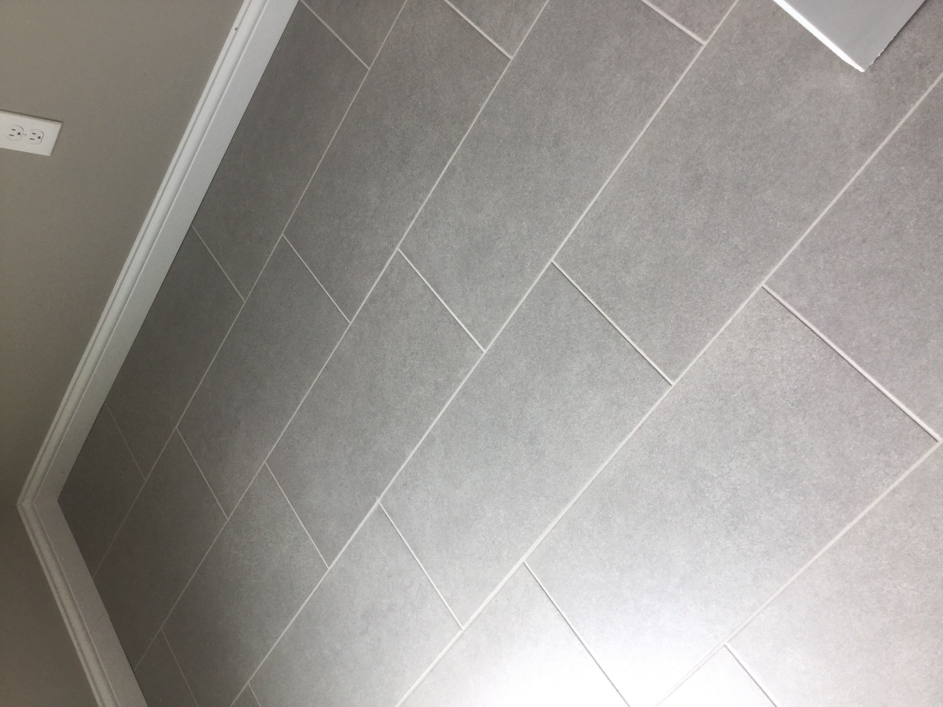 Parkway 12x24 Gray Floor Tile Gray Tile Bathroom Floor Grey Bathroom Tiles Grey Bathroom Floor