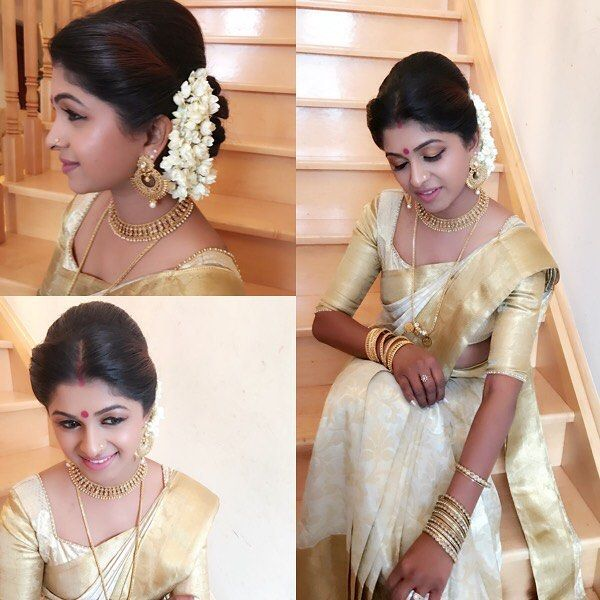 Friends Wedding Hairstyles Kerala: Beautiful And Very Talented Person Nitha. She Was With Her