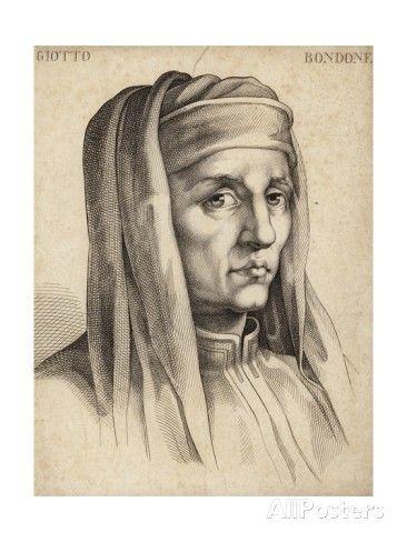 Giotto Di Bondone (c.1266-1337), Italian Painter and Architect (engraving)