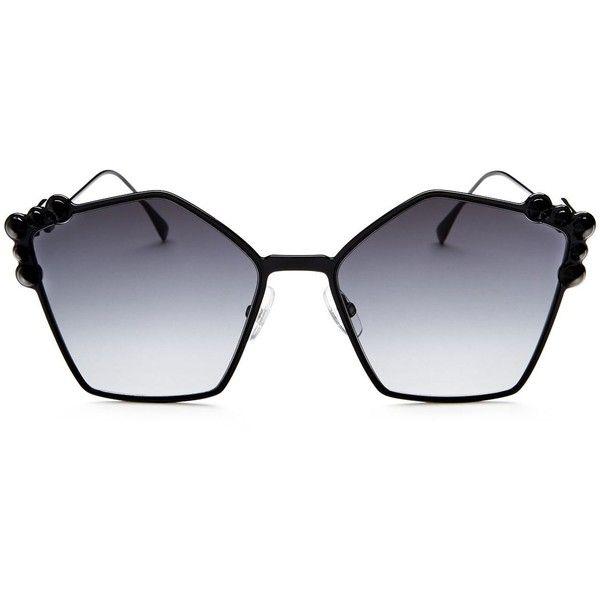 e200a3537115c Fendi Embellished Square Sunglasses