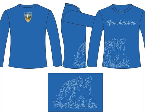 "2015 ""Run America"" Yellowstone Half Marathon Training shirt – Vacation Races Merchandise"