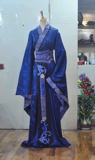 1//6 Ancient Soldier Costume Dragon Pattern Wide Sleeve Hanfu Armor Inner Clothes