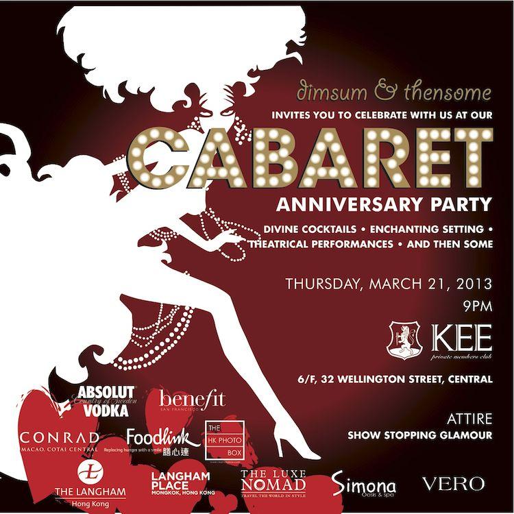 Cabaret Party Invitations Google