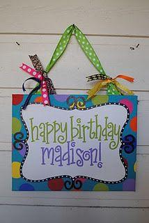 cute happy birthday sign idea diy pinterest birthday