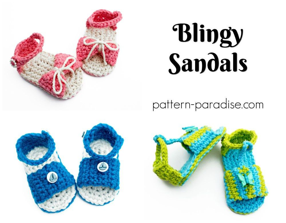 Free Crochet Pattern: Blingy Sandals