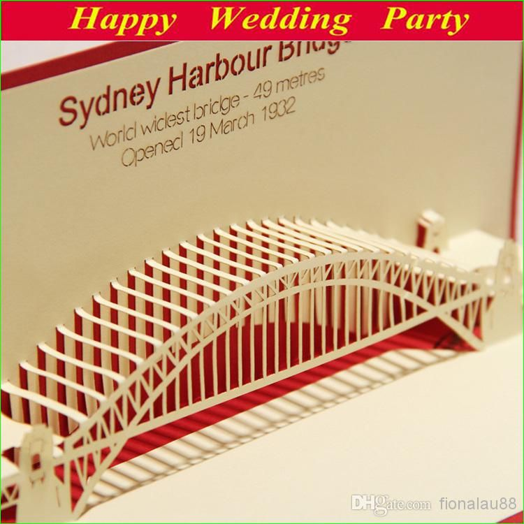 Free shipping 8863setbuy wholesale 3d birthday card sydney 3d birthday card sydney harbour bridge kirigami amp origami traveling greeting amp birthday gift cards 13123108 holiday christmas cards holiday greeting m4hsunfo Gallery
